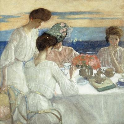 Afternoon Tea on the Terrace-Frederick Carl Frieseke-Giclee Print
