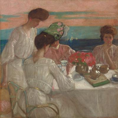 Afternoon Tea on the Terrace-Frederick Karl Frieseke-Giclee Print