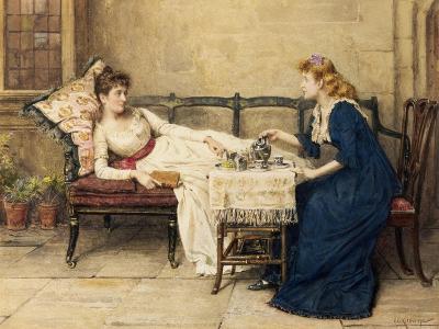 Afternoon Tea-George Goodwin Kilburne-Giclee Print