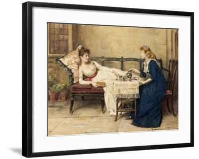 Afternoon Tea-George Goodwin Kilburne-Framed Giclee Print