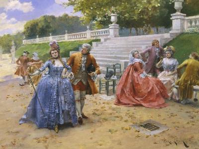 Afternoon Walk-Henri Victor Lesur-Giclee Print