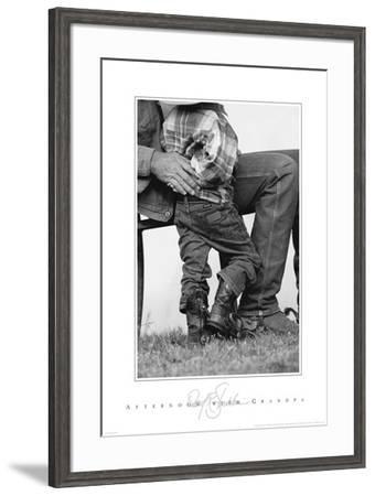 Afternoon With Grandpa-David R. Stoecklein-Framed Art Print