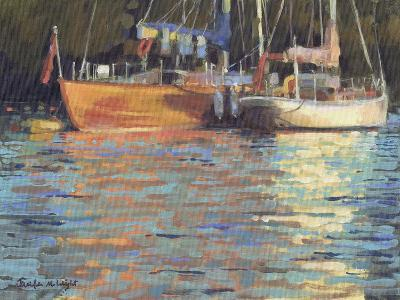 Afternoon Yacht Reflections-Jennifer Wright-Giclee Print