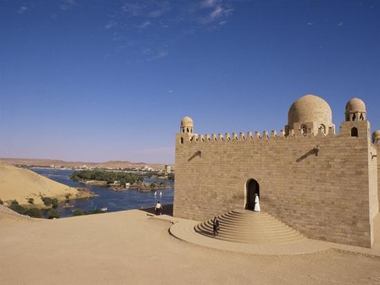 Aga Khan Mausoleum on River Nile, Aswan, Egypt-Staffan Widstrand-Photographic Print