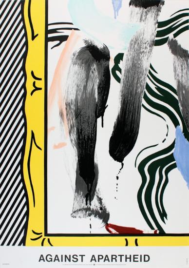 Against Apartheid-Roy Lichtenstein-Collectable Print