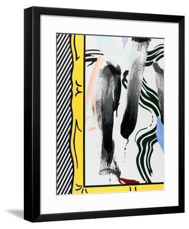 Against Apartheid-Roy Lichtenstein-Framed Collectable Print