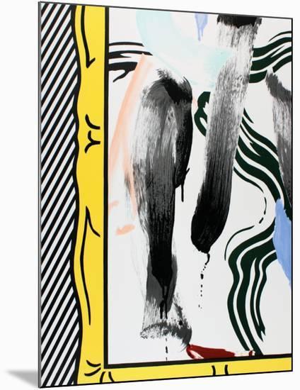 Against Apartheid-Roy Lichtenstein-Mounted Collectable Print