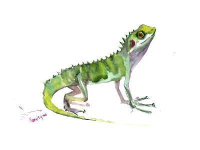 Agama Lizard-Suren Nersisyan-Art Print