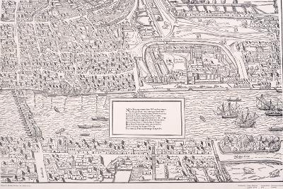 Agas' Map of London, C1561--Giclee Print
