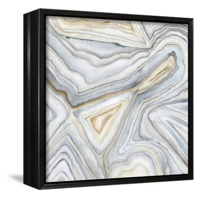 Agate Abstract I-Megan Meagher-Framed Canvas Print