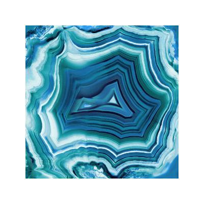 Agate in Aqua-Danielle Carson-Giclee Print