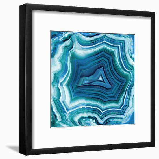 Agate in Aqua-Danielle Carson-Framed Giclee Print