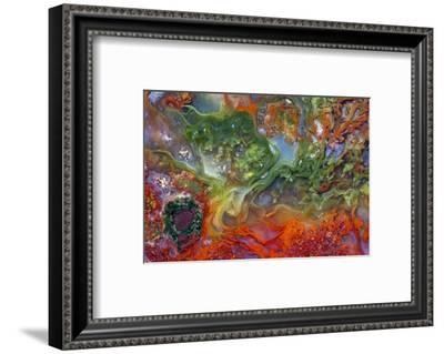 Agate in Colorful Design, Sammamish, WA-Darrell Gulin-Framed Photographic Print