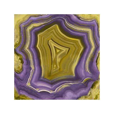 Agate in Purple & Gold I-Danielle Carson-Giclee Print