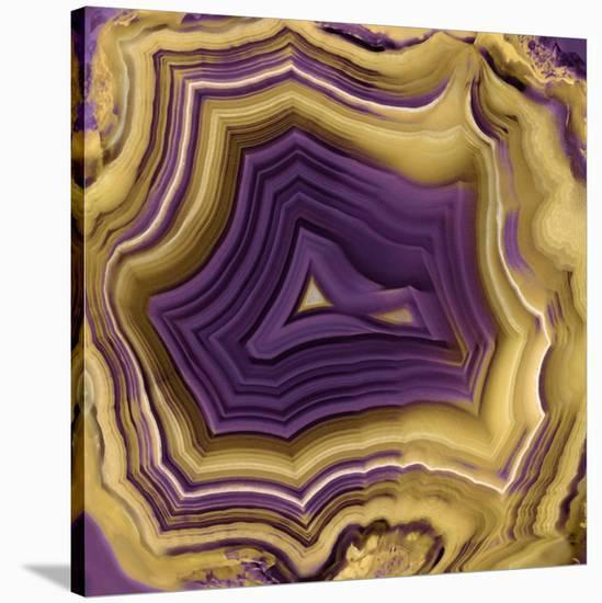 Agate in Purple & Gold II-Danielle Carson-Stretched Canvas Print