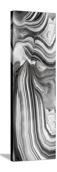 Agate Panel Grey II-Danielle Carson-Stretched Canvas Print