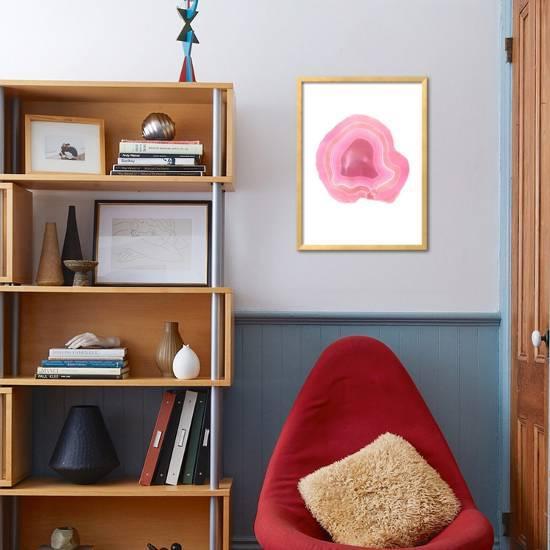framed agate slices.htm agate slice  framed art print peach   gold art com  agate slice  framed art print peach