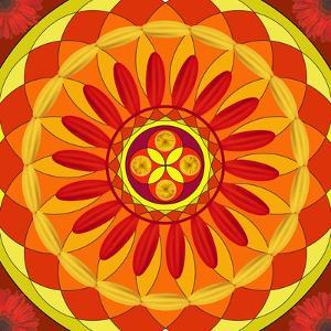 Floral Mandala Drawing Sacred Circle by AGCuesta
