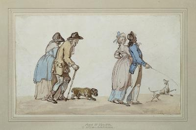 Age and Youth-Thomas Rowlandson-Giclee Print