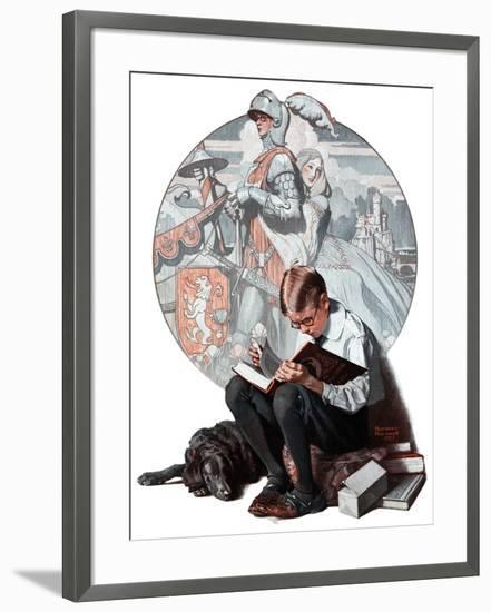 """Age of Romance"", November 10,1923-Norman Rockwell-Framed Giclee Print"