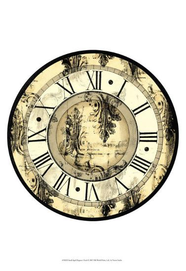 Aged Elegance Clock--Art Print