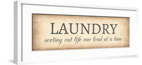 Aged Laundry Sign - Sorting Out Life-Color Me Happy-Framed Art Print