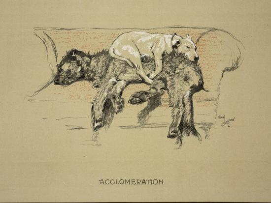 Agglomeration, 1930, 1st Edition of Sleeping Partners-Cecil Aldin-Giclee Print