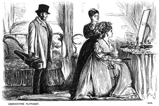 Aggravating Flippancy, 1870-George Du Maurier-Giclee Print