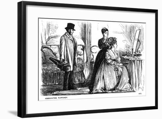 Aggravating Flippancy, 1870-George Du Maurier-Framed Giclee Print