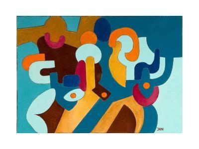 Aggressive Husband and His Shy Wife, 2009-Jan Groneberg-Giclee Print
