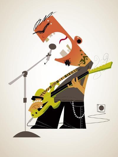 Aggressive rock musician-Harry Briggs-Giclee Print