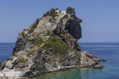 Agios Ioannis Chapel, Used in the Film Mama Mia, Skopelos, Sporades, Greek Islands, Greece, Europe-Rolf Richardson-Photographic Print