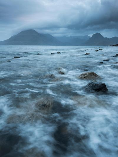 Agitated Water at Elgol, Loch Scavaig, with the Black Cuillin Beyond, Isle of Skye, Scotland-Stewart Smith-Photographic Print