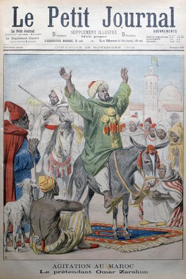 Agitation in Morrocco: Omar Zarahun Preaching Revolt, 1902-Charles Dufresne-Giclee Print