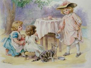 The Tea Party, 1876 by Agnes Nicholl
