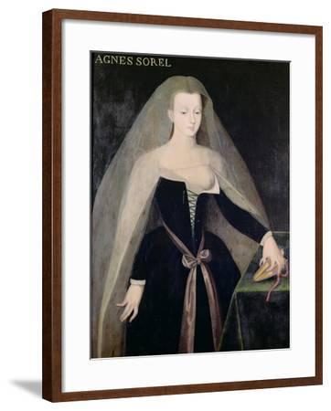 Agnes Sorel (circa 1422-50) Favourite of Charles VII (1403-61)--Framed Giclee Print
