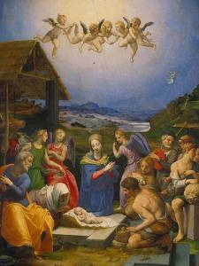 Adoration of the Shepherds, 1530 by Agnolo Bronzino