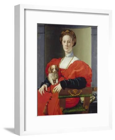 Bildnis Einer Dame Mit Schosshuendchen, 1537-1540