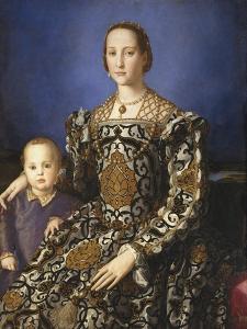 Eleonora of Toledo with Her Son by Agnolo Bronzino