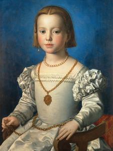 Portrait of Bia De' Medici, 1542 by Agnolo Bronzino