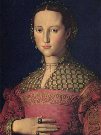 Portrait of Eleanor of Toledo, Wife of Grand Duke Cosimo I De' Medici, C1545