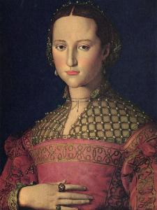 Portrait of Eleanor of Toledo, Wife of Grand Duke Cosimo I De' Medici, C1545 by Agnolo Bronzino