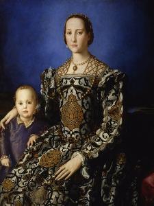 Portrait of Eleanor of Toledo with Her Son Giovanni, Ca 1545 by Agnolo Bronzino