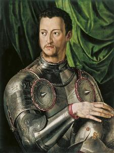 Portrait of Grand Duke of Tuscany Cosimo I De' Medici (1519-157) in Armour by Agnolo Bronzino
