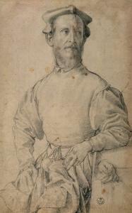 Portrait of Jacopo Pontormo by Agnolo Bronzino