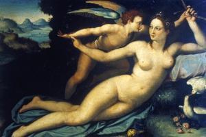 Venus and Cupid, Mid 16th Century by Agnolo Bronzino