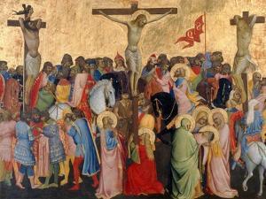 Crucifixion-Scene by Agnolo Gaddi