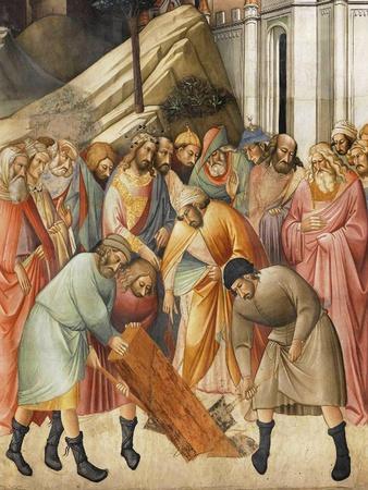 King Solomon Burying one of the Beams of the Cross, c.1380