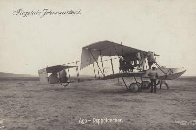 Ago Biplane, Johannisthal Airfield, Berlin, Germany--Photographic Print
