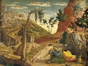 Agony in Garden by Andrea Mantegna (1431-1506), Tempera on Wood, 71X94 Cm, 1457-1459